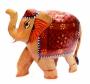 """Слон деревянный стиль """"хохлома"""""""