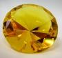 Кристалл хрустальный желтый