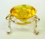 Кристалл хрустальный на подставке желтый