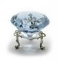 Кристалл хрустальный на подставке голубой