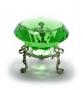 Кристалл хрустальный на подставке зеленый