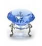 Кристалл хрустальный на подставке синий