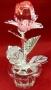 Цветок на серебяном стебле хрустальный