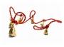 Колокольчики бронзовые на веревке (6 шт)
